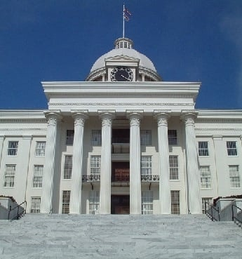 Alabama State Capitol Building in Montgomery Alabama