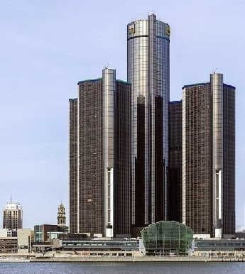 The GM Renaissance Center in Detroit