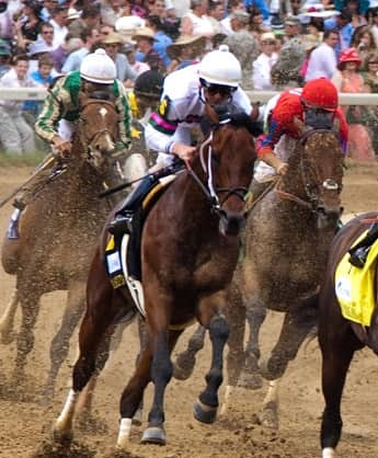 Horses racing at the 2009 Kentucky Derby