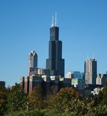 The Sears Tower in Chicago Illinois